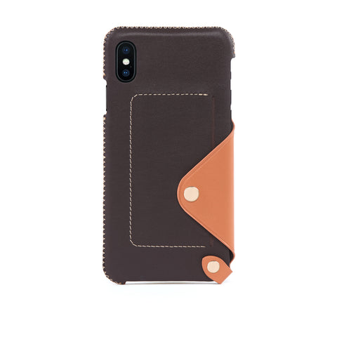 Leather Pocket Case for iPhone Xs Max, Irish Layered