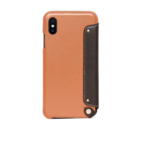 Leather Folio Case for iPhone Xs Max, Irish Layered