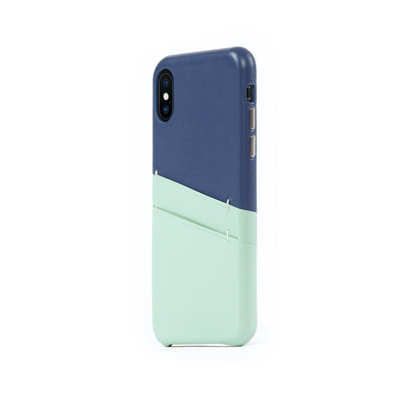 Leather Card Slot Case for iPhone X / iPhone Xs, Seafoam