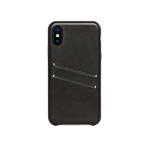 Leather Card Slot Case for iPhone X / iPhone Xs, Black