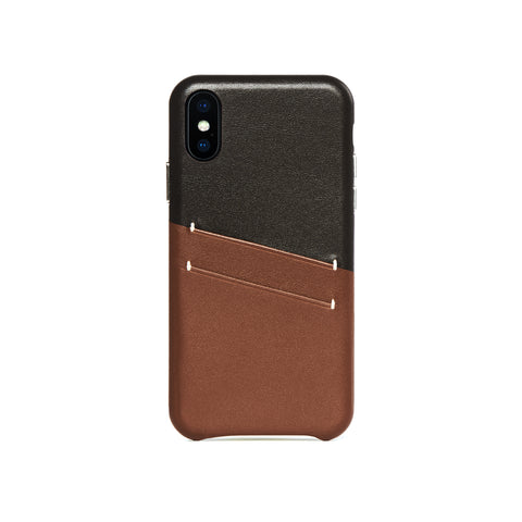 Leather Card Slot Case for iPhone X / iPhone Xs, Irish Layered