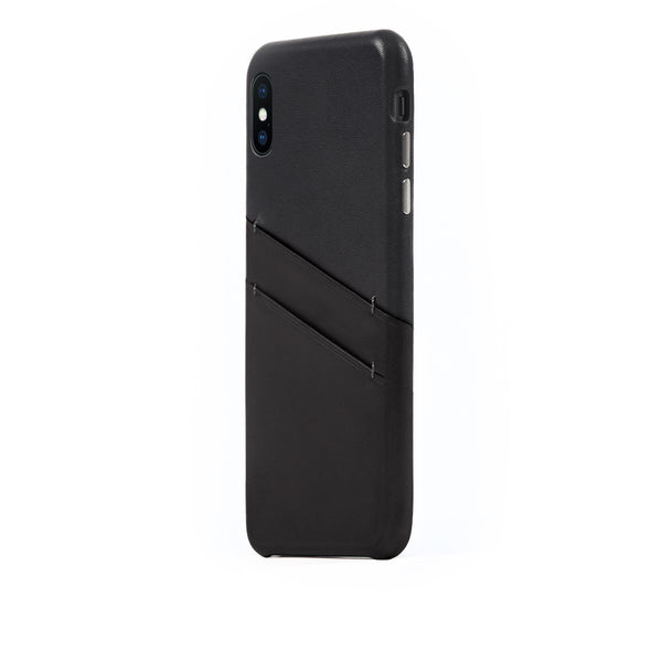 Leather Card Slot Case for iPhone Xs Max, Black