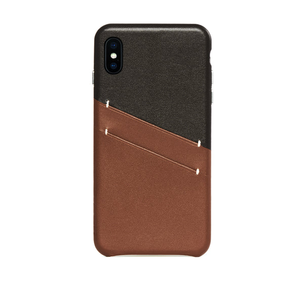 Leather Card Slot Case for iPhone Xs Max, Irish Layered