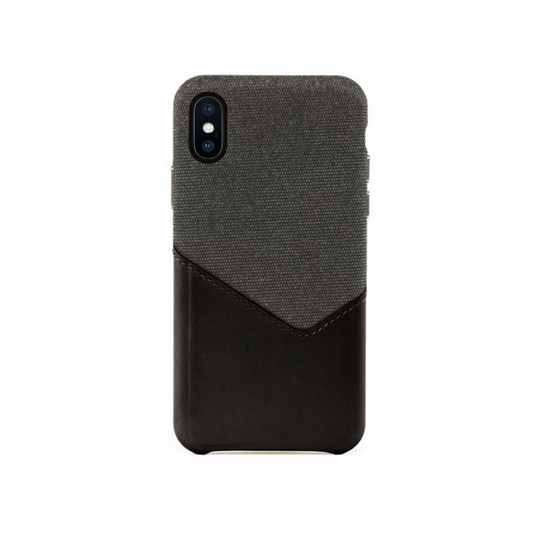 Valley Card Slot Case for iPhone X / iPhone Xs, Black