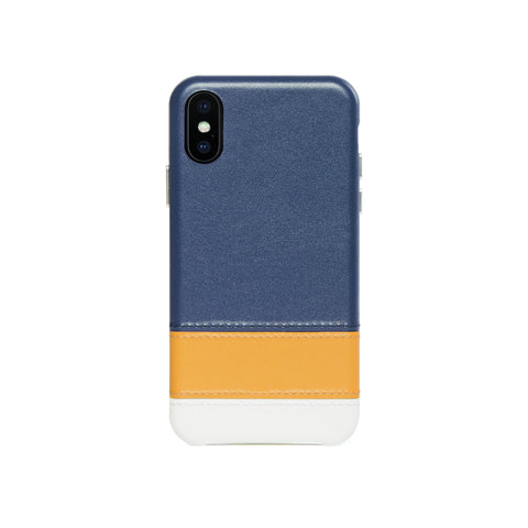 Striped Leather Snap-On Case for iPhone X / iPhone Xs, Lavender