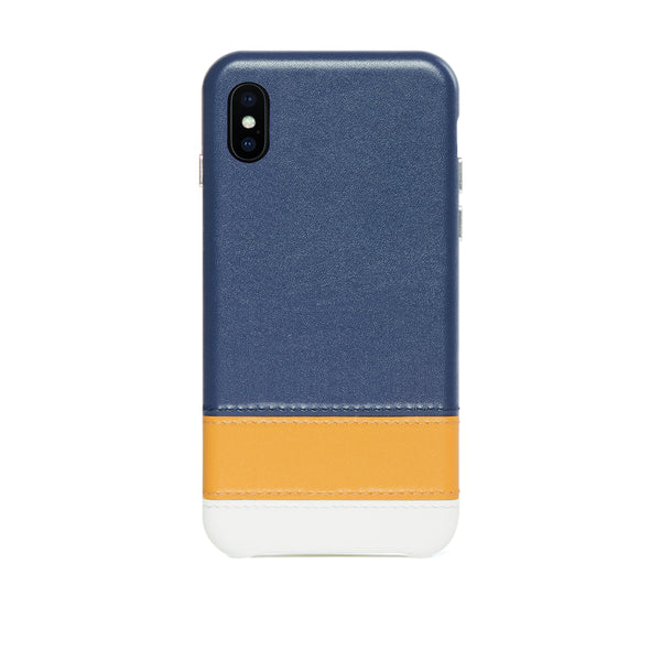 Striped Leather Snap-On Case for iPhone Xs Max, Lavender