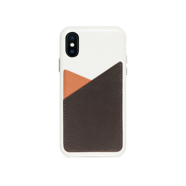 Patchwork Leather Snap-On Case for iPhone X / iPhone Xs, Irish Layered