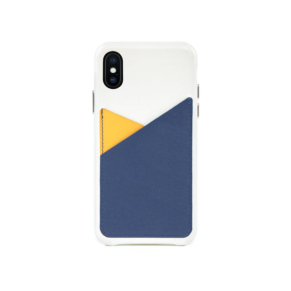 Patchwork Leather Snap-On Case for iPhone X / iPhone Xs, Lavender