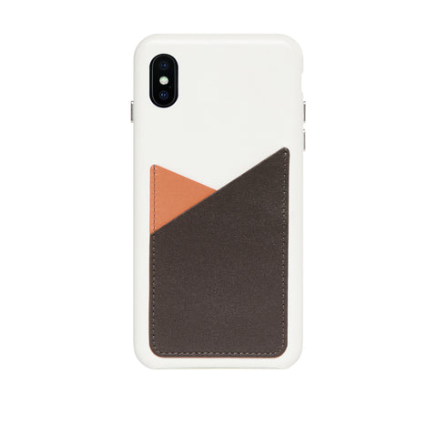 Patchwork Leather Snap-On Case for iPhone Xs Max, Irish Layered