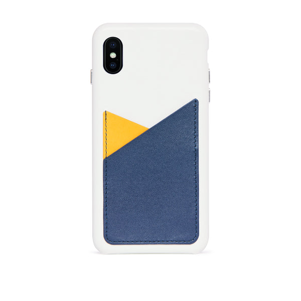Patchwork Leather Snap-On Case for iPhone Xs Max, Lavender