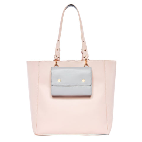 Large Leather Tote Bag, Pink