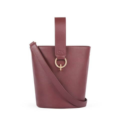 New Bucket Bag, Bordeaux