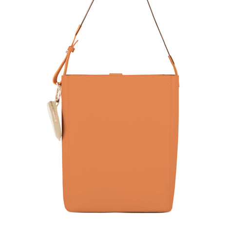 Leather Shoulder Bag, Caramel
