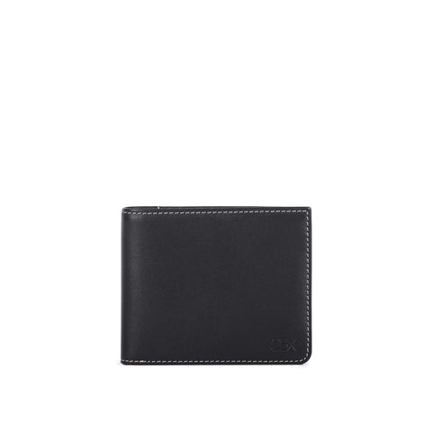 Leather Billfold Wallet, Black
