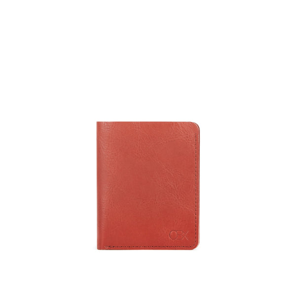 Vegetable Tanned Leather  Wallet, Cognac Brown