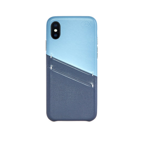 Leather Card Slot Case for iPhone X / iPhone Xs, Aqua