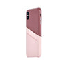 Leather Card Slot Case for iPhone X / iPhone Xs, Bordeaux