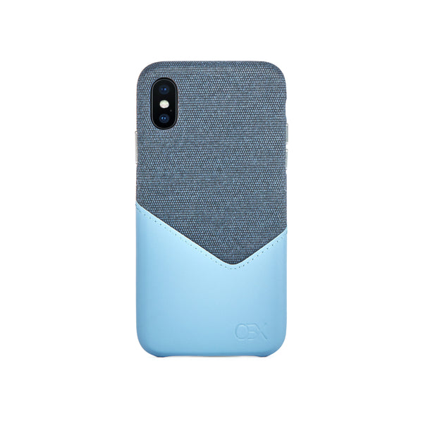 Valley Card Slot Case for iPhone X / iPhone Xs, Aqua