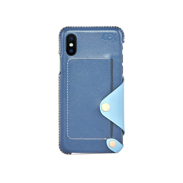 Leather Pocket Case for iPhone X / iPhone Xs, Aqua
