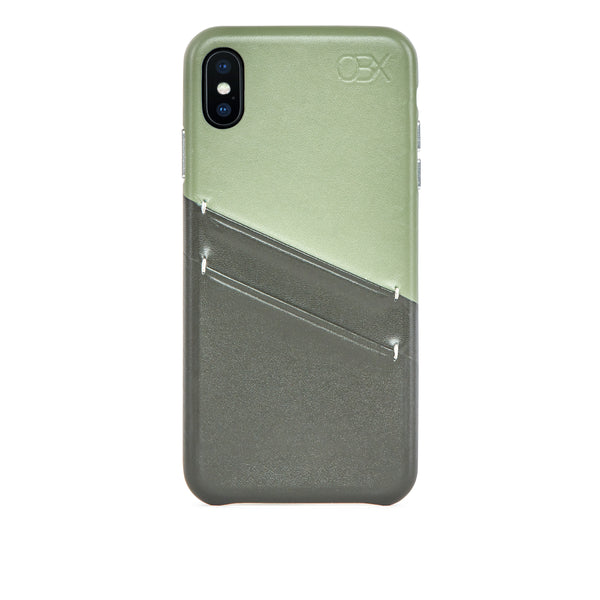 Leather Card Slot Case for iPhone Xs Max, Aloe Vera