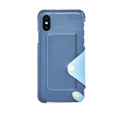 Leather Pocket Case for iPhone Xs Max, Aqua
