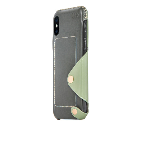 Leather Pocket Case for iPhone Xs Max, Aloe Vera