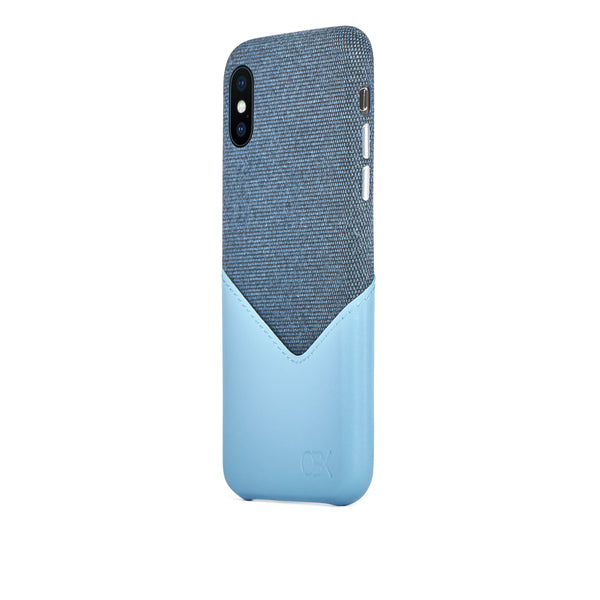Valley Card Slot Case for iPhone Xs Max, Aqua