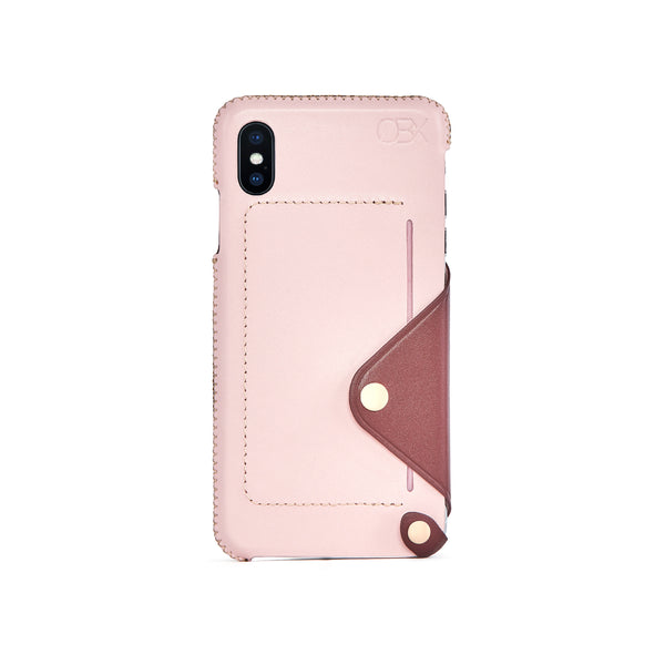 Leather Pocket Case for iPhone X / iPhone Xs, Bordeaux