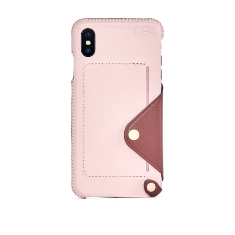 Leather Pocket Case for iPhone Xs Max, Bordeaux