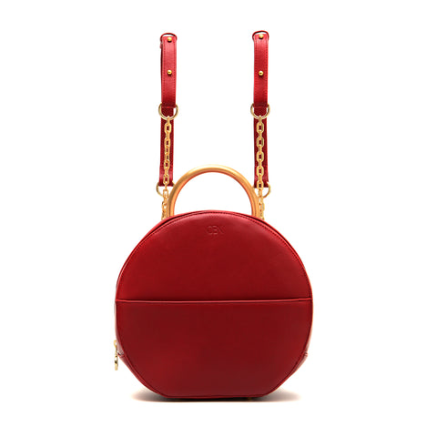 Convertible Circle Backpack, Tibetan Red
