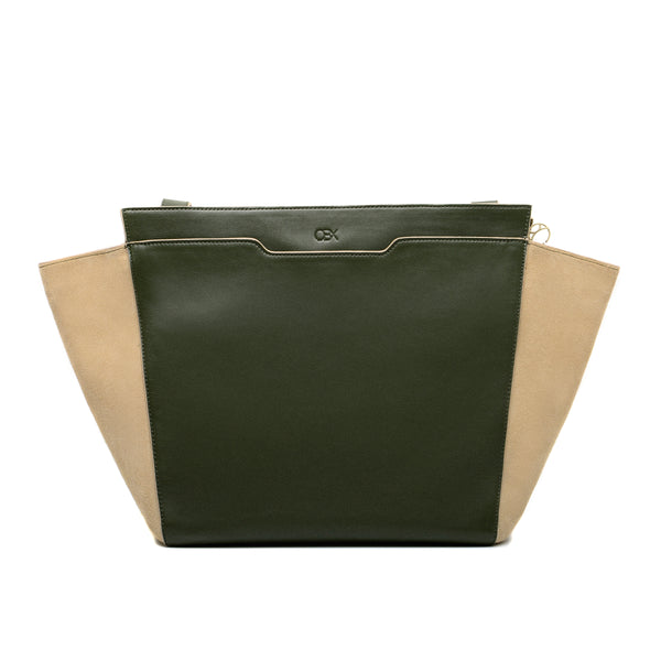Structured Wing Tote, Olive Night