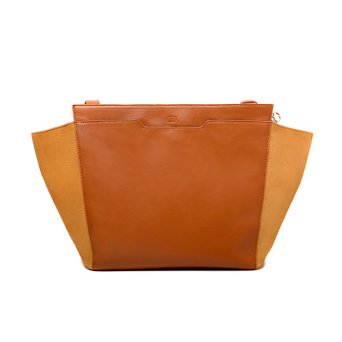Structured Wing Tote, Inca Gold