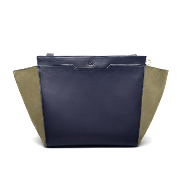 Structured Wing Tote, Blue Night