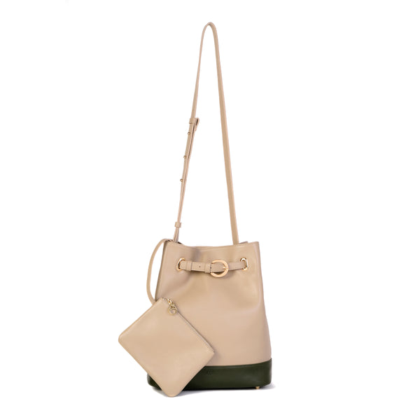 Belt Bucket Bag, Simply Taupe