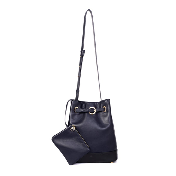 Belt Bucket Bag, Blue Night