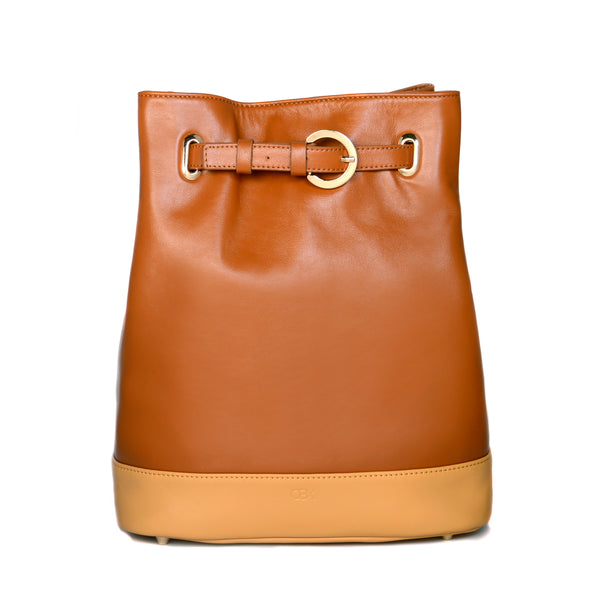 Belt Bucket Bag, Glazed Ginger