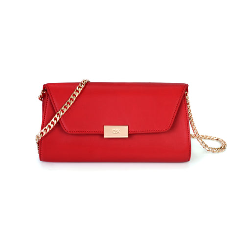 Envelope Clutch Bag, Tomato