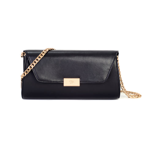 Envelope Clutch Bag, Black