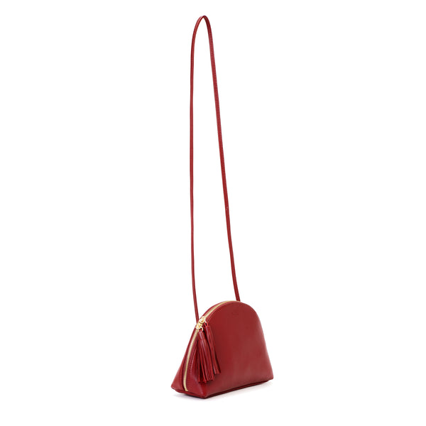 Plump Shoulder Bag, Raisin