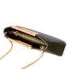 Trapezoid Handle Clutch Bag, Olive Night