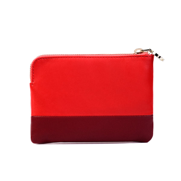 2-Tone Multi-functional Pouch, Tomato/Tibetan Red