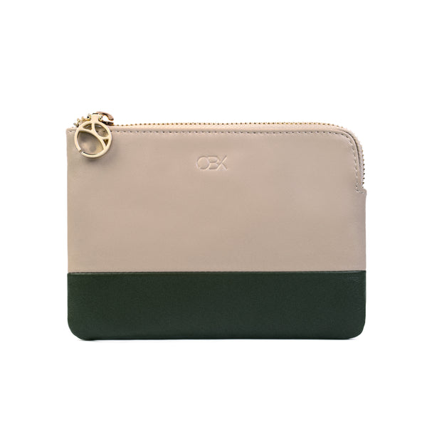 2-Tone Multi-functional Pouch, Simply Taupe / Olive Night