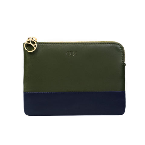 2-Tone Multi-functional Pouch, Olive Night / Blue Night