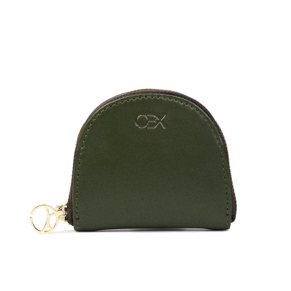 Half Moon Coin Pouch, Olive Night