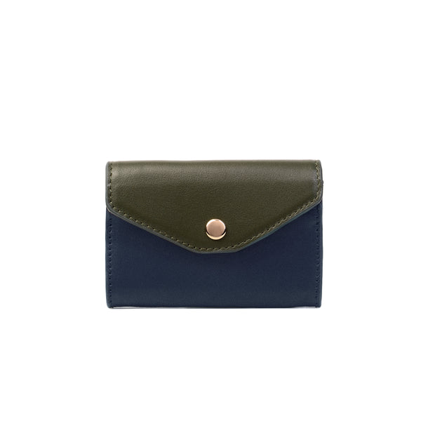 2 Tone Cardholder, Blue Night/Olive Night