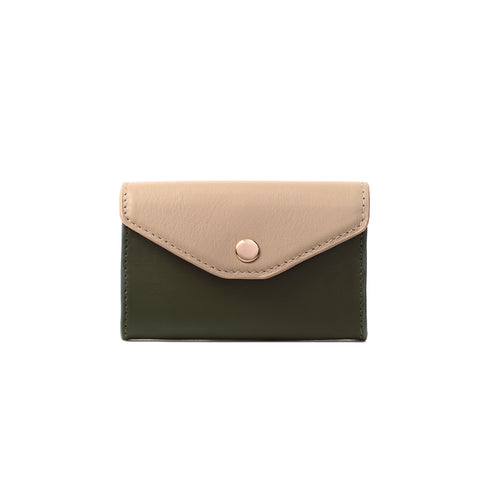 2 Tone Cardholder, Olive Night/Simply Taupe