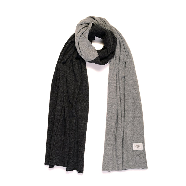 ECO Cashmere Scarf, Pewter/Derby Grey