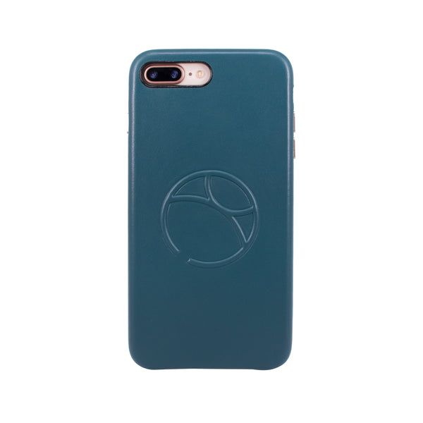 Embossed logo snap on case for iPhone 7 Plus / iPhone 8 Plus, Green Blue