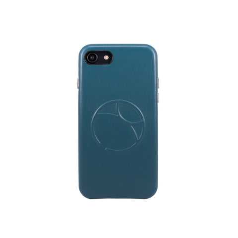 Embossed logo snap on case for iPhone 7 / iPhone 8, Green Blue