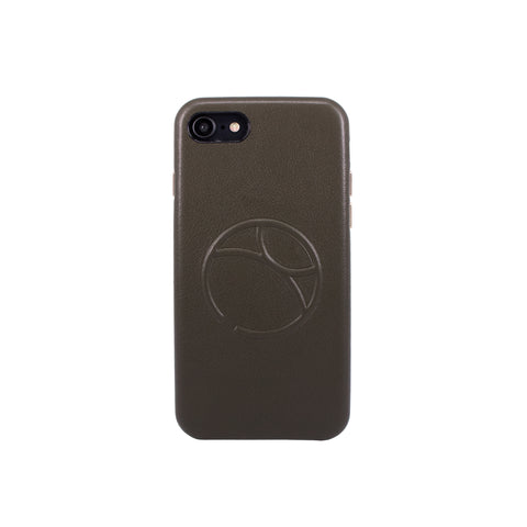 Embossed logo snap on case for iPhone 7 / iPhone 8, Dark Green